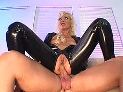 Latex cunt is ass banged