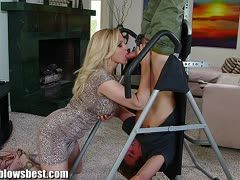 Workout leads to a great milf blowjob with Julia Ann