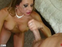 Mark Wood's fleshy cock in the mouth of beautiful Rachel Roxxx