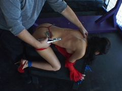 Painful education for the female slave