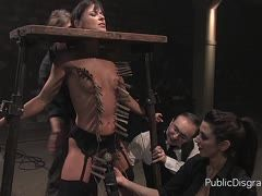 Brutal bdsm with hogtied Franceska Jaimes