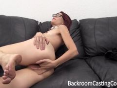 Hot anal orgasm during the casting
