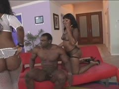 Hot sex for two black assholes