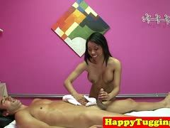 Happy ending massage with hot Thai babe