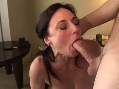 She loves it rectally! Cock dominates hot milf asshole