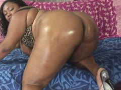 Fat black filled with cum