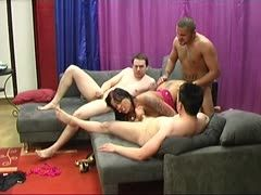 German amateurs at a gangbang casting