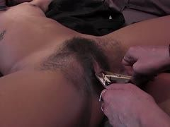 Lesbian femdom sex with hairy cunt