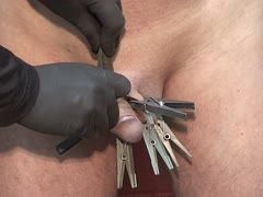 Painful clamps on the balls