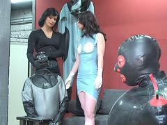Strict education for the latex slave