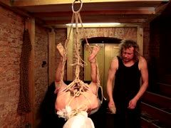 Bondage art in the fetish cellar