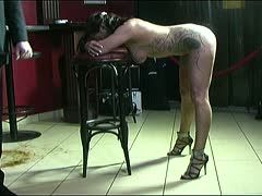 Painful evening for the slave