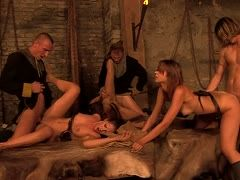 Group sex in the dungeon