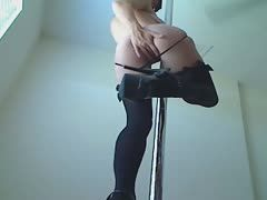 Poledancer provides a hot show