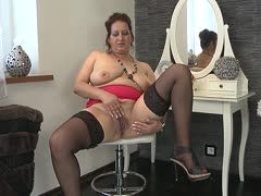 Polish milf with big saggies