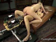 Fuck machines for India Summer and Aiden Aspen