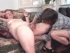 Big granny fucks young guy