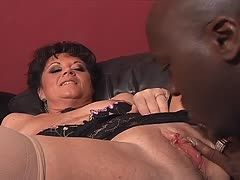 D. Wise bangs Debella's mature twat until it's raw