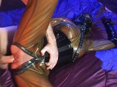 Hot latex whore is fucked hard