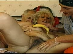 Threesome with grandma and grandpa