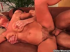 Young guy likes hairy milf twats