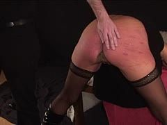German female slave gets a punishment for cheating