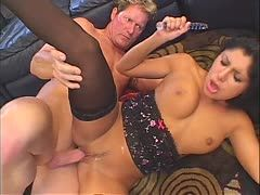 Naughty Sativa Rose is caught wanking