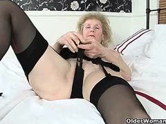 Granny spreads her legs for you