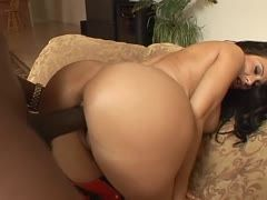 Lexington Steele's cock fills Sheila Marie's ass