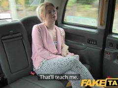 Student is fucked in the fake taxi