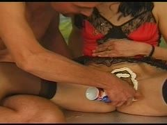 Creamy mess during sex at the swingers' club