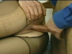 Craftsman destroys her black nylons